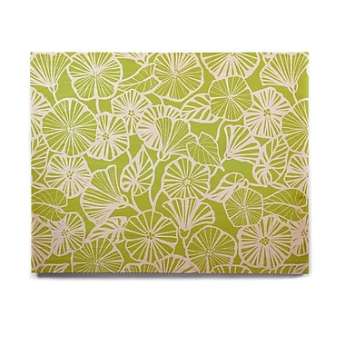 East Urban Home Floral 'Vine Shadow - Lime' Graphic Art Print on Wood; 20'' H x 24'' W x 1'' D