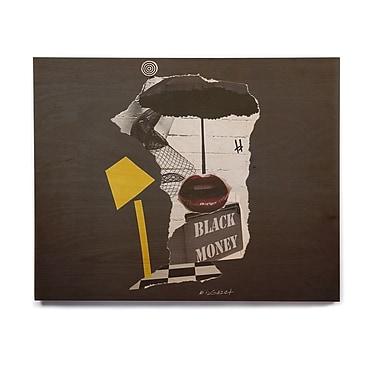 East Urban Home Pop Art 'Lamp' Graphic Art Print on Wood; 8'' H x 10'' W x 1'' D