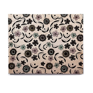 East Urban Home 'Artisan Floral' Graphic Art Print on Wood; 11'' H x 14'' W x 1'' D