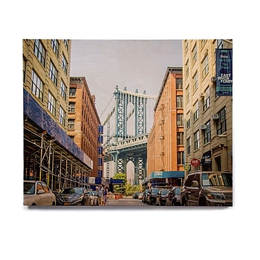 East Urban Home Urban 'DUMBO' Photographic Print on Wood; 11'' H x 14'' W x 1'' D