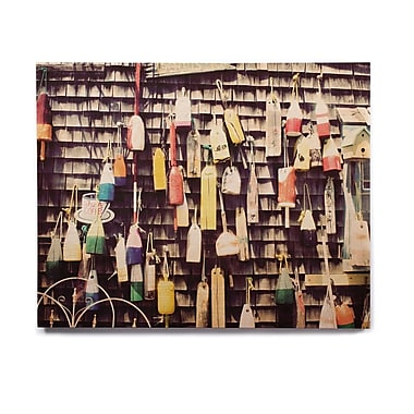East Urban Home 'Hanging Buoys' Photographic Print on Wood