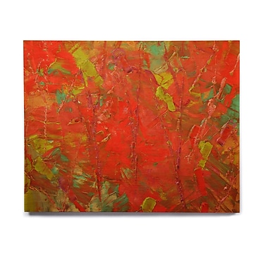 East Urban Home 'Crimson Forest' Painting Print on Wood