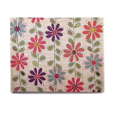 East Urban Home Floral 'Fall Flowers' Graphic Art Print on Wood; 11'' H x 14'' W x 1'' D