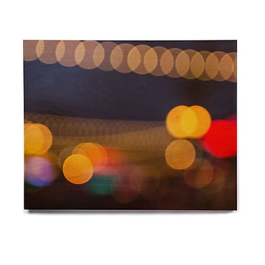 East Urban Home Urban 'Tremont Bokeh' Photographic Print on Wood; 8'' H x 10'' W x 1'' D