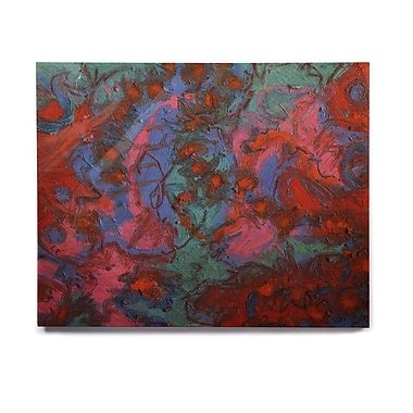 East Urban Home 'Koi Pond' Graphic Art Print on Wood; 20'' H x 24'' W x 1'' D