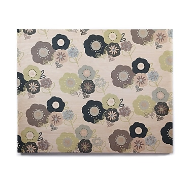 East Urban Home 'Floral Bunches ' Graphic Art Print on Wood
