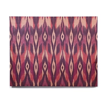 East Urban Home 'Purple Ikat' Graphic Art Print on Wood; 11'' H x 14'' W x 1'' D