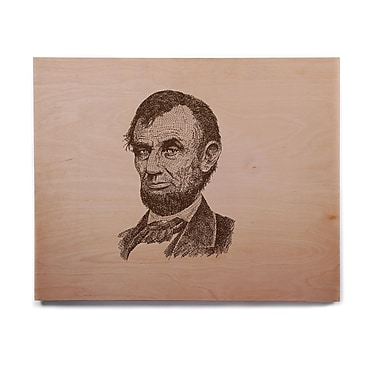 East Urban Home Vintage 'Abraham Lincoln' Graphic Art Print on Wood; 16'' H x 20'' W x 1'' D