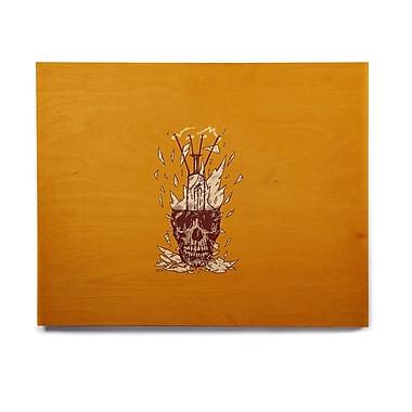 East Urban Home 'Broken Bulb' Graphic Art Print on Wood; 11'' H x 14'' W x 1'' D