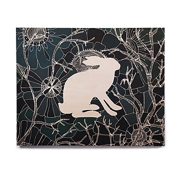 East Urban Home 'Hare' Graphic Art Print on Wood; 20'' H x 24'' W x 1'' D