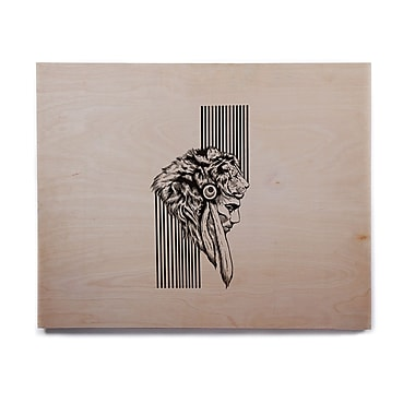 East Urban Home 'The Chief' Graphic Art Print on Wood