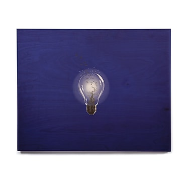 East Urban Home 'Bulb' Graphic Art Print on Wood; 16'' H x 20'' W x 1'' D