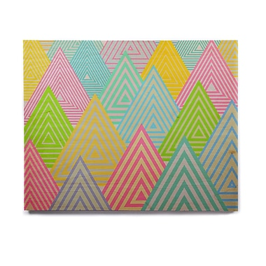 East Urban Home Pastel 'Pastel Mountains' Graphic Art Print on Wood; 20'' H x 24'' W x 1'' D