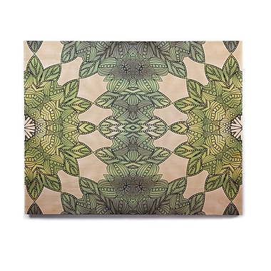East Urban Home Celtic 'Forest Leaves' Graphic Art Print on Wood; 11'' H x 14'' W x 1'' D