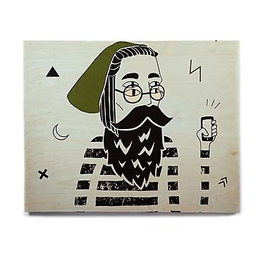 East Urban Home Gren Digital 'Dreamer2' Graphic Art Print on Wood; 20'' H x 24'' W x 1'' D