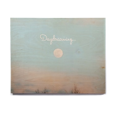 East Urban Home Sky Clouds 'Day Dreaming' Graphic Art Print on Wood