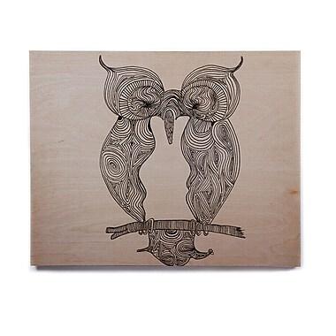 East Urban Home 'Owl' Graphic Art Print on Wood; 16'' H x 20'' W x 1'' D