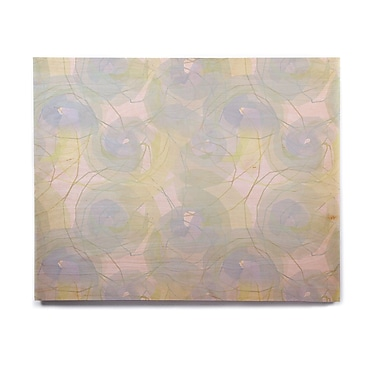 East Urban Home 'Blue Paper Flower' Graphic Art Print on Wood; 8'' H x 10'' W x 1'' D