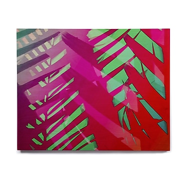 East Urban Home 'Hot Tropical' Graphic Art Print on Wood; 20'' H x 24'' W x 1'' D