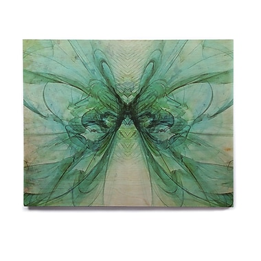 East Urban Home 'Butterfly Blue' Graphic Art Print on Wood; 8'' H x 10'' W x 1'' D