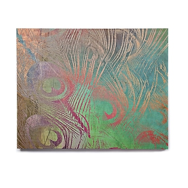 East Urban Home Abstract ' Indian Summer' Graphic Art Print on Wood; 16'' H x 20'' W x 1'' D