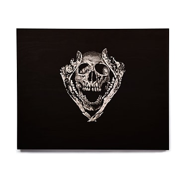 East Urban Home Digital 'Jawz' Graphic Art Print on Wood; 20'' H x 24'' W x 1'' D