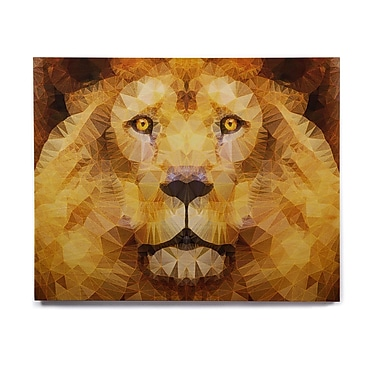East Urban Home 'Lion King' Graphic Art Print on Wood; 11'' H x 14'' W x 1'' D