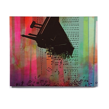 East Urban Home Abstract 'A GRAND DELUGE (RED)' Graphic Art Print on Wood