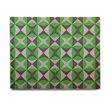 East Urban Home 'Silver and Green Abstract' Graphic Art Print on Wood; 16'' H x 20'' W x 1'' D