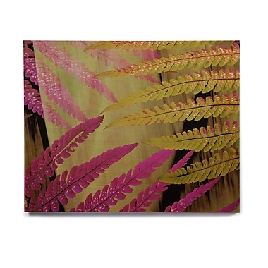 East Urban Home 'Forest Fern Mauve' Graphic Art Print on Wood; 20'' H x 24'' W x 1'' D