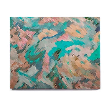 East Urban Home Abstract 'Giverny Blue' Painting Print on Wood