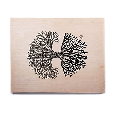 East Urban Home 'The Tree of Life' Graphic Art Print on Wood; 11'' H x 14'' W x 1'' D