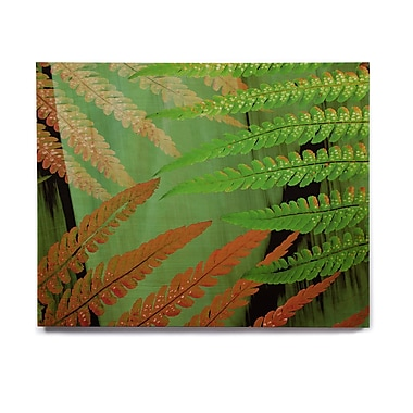 East Urban Home 'Forest Fern Russet' Graphic Art Print on Wood; 11'' H x 14'' W x 1'' D