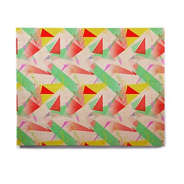 East Urban Home 'Confetti Triangles Red' Graphic Art Print on Wood; 8'' H x 10'' W x 1'' D