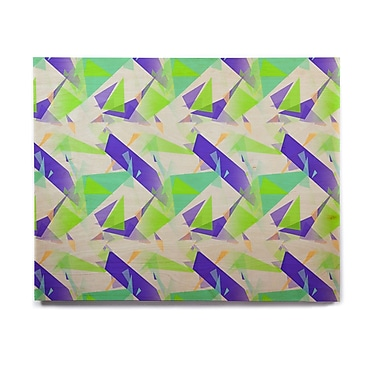 East Urban Home 'Confetti Triangles Blue' Graphic Art Print on Wood