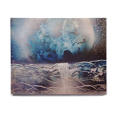 East Urban Home Planet 'Surreal Falls' Graphic Art Print on Wood; 8'' H x 10'' W x 1'' D