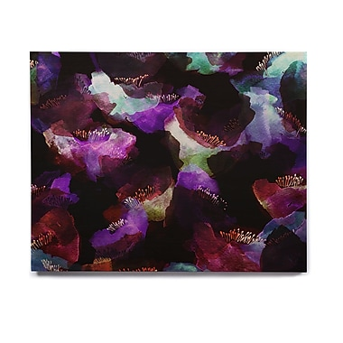 East Urban Home Abstract 'Watercolour Poppy' Graphic Art Print on Wood