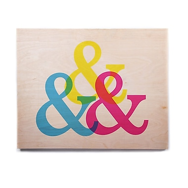 East Urban Home 'CYMK Ampersands' Graphic Art Print on Wood