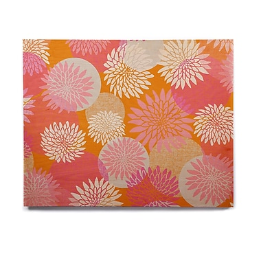 East Urban Home Illustration 'Flower Power' Graphic Art Print on Wood; 20'' H x 24'' W x 1'' D