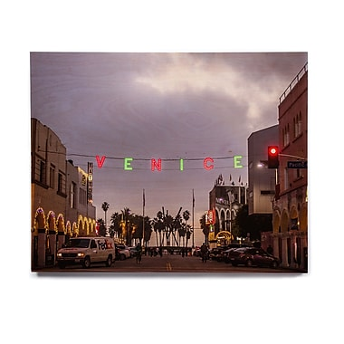 East Urban Home Holiday 'Venice Christmas' Photographic Print on Wood; 16'' H x 20'' W x 1'' D