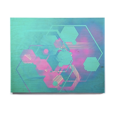 East Urban Home 'Emersion' Graphic Art Print on Wood; 11'' H x 14'' W x 1'' D