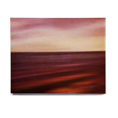 East Urban Home 'Seascape Sunset' Graphic Art Print on Wood; 8'' H x 10'' W x 1'' D