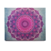 East Urban Home 'Grunge Mandala' Graphic Art Print on Wood