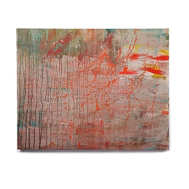 East Urban Home Splatter 'Mots de La Terre' Graphic Art Print on Wood; 20'' H x 24'' W x 1'' D