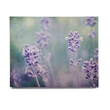 East Urban Home Flower 'Lavender Dream' Graphic Art Print on Wood