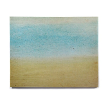 East Urban Home 'Watercolor Paint Stripe' Painting Print on Wood; 16'' H x 20'' W x 1'' D