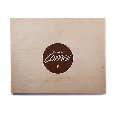 East Urban Home 'But First, Coffee' Graphic Art Print on Wood; 11'' H x 14'' W x 1'' D