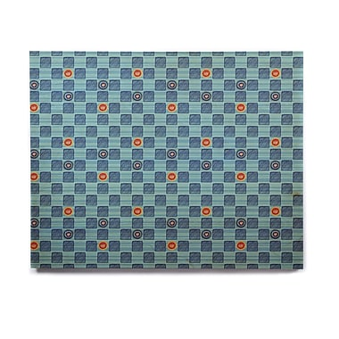 East Urban Home 'Vintage Checkerboard' Graphic Art Print on Wood; 16'' H x 20'' W x 1'' D
