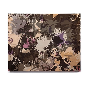 East Urban Home 'Punk Floral' Graphic Art Print on Wood; 20'' H x 24'' W x 1'' D
