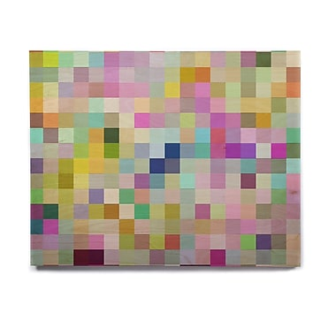 East Urban Home 'Colorful Pixels' Graphic Art Print on Wood; 11'' H x 14'' W x 1'' D